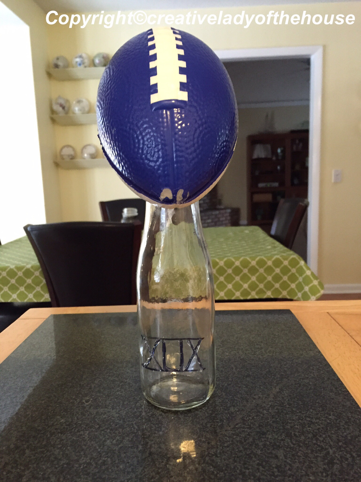 After A Few Coats Of Silver Paint My Lombardi Trophy Was Finished